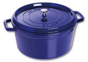 Ronde Cocotte Staub gietijzer blauw