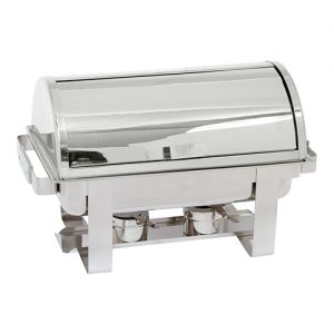 Chafing dish met Roll Top deksel
